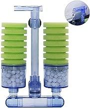 UPETTOOLS Aquarium Biochemical Sponge Filter, Ultra Quite Aquarium Air Pump Single Head..