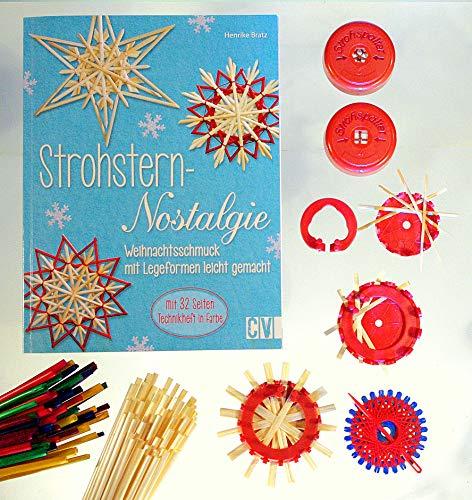 Bastel-Set Strohstern-Nostalgie, mit Anleitungsbuch