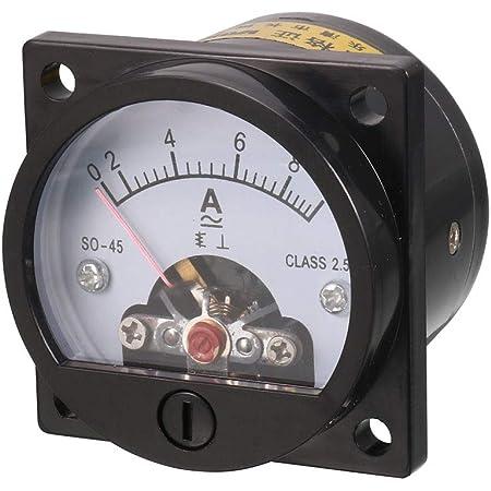 Baomain Ac 0 3a Rundes Analog Panel Messgerät Strommessgerät Amperemeter Messgerät Schwarz Baumarkt