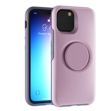 YIQUTECH 2 in 1 Case Compatible with iPhone 12 Pro Max,Hybrid Design Made of Rigid Back(PC) and Flexible Bumper(TPU) (Pink)