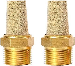 250 psi 3//8 NPT Male Parker EM37-90 EM Series Sintered Bronze Muffler//Filter 11//16 Hex Size