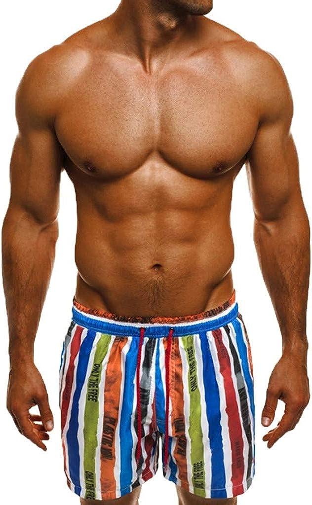 MODOQO Swim Shorts for Men,Summer New Printed Loose Fit Quick Dry Hawaiian Swim Trunks