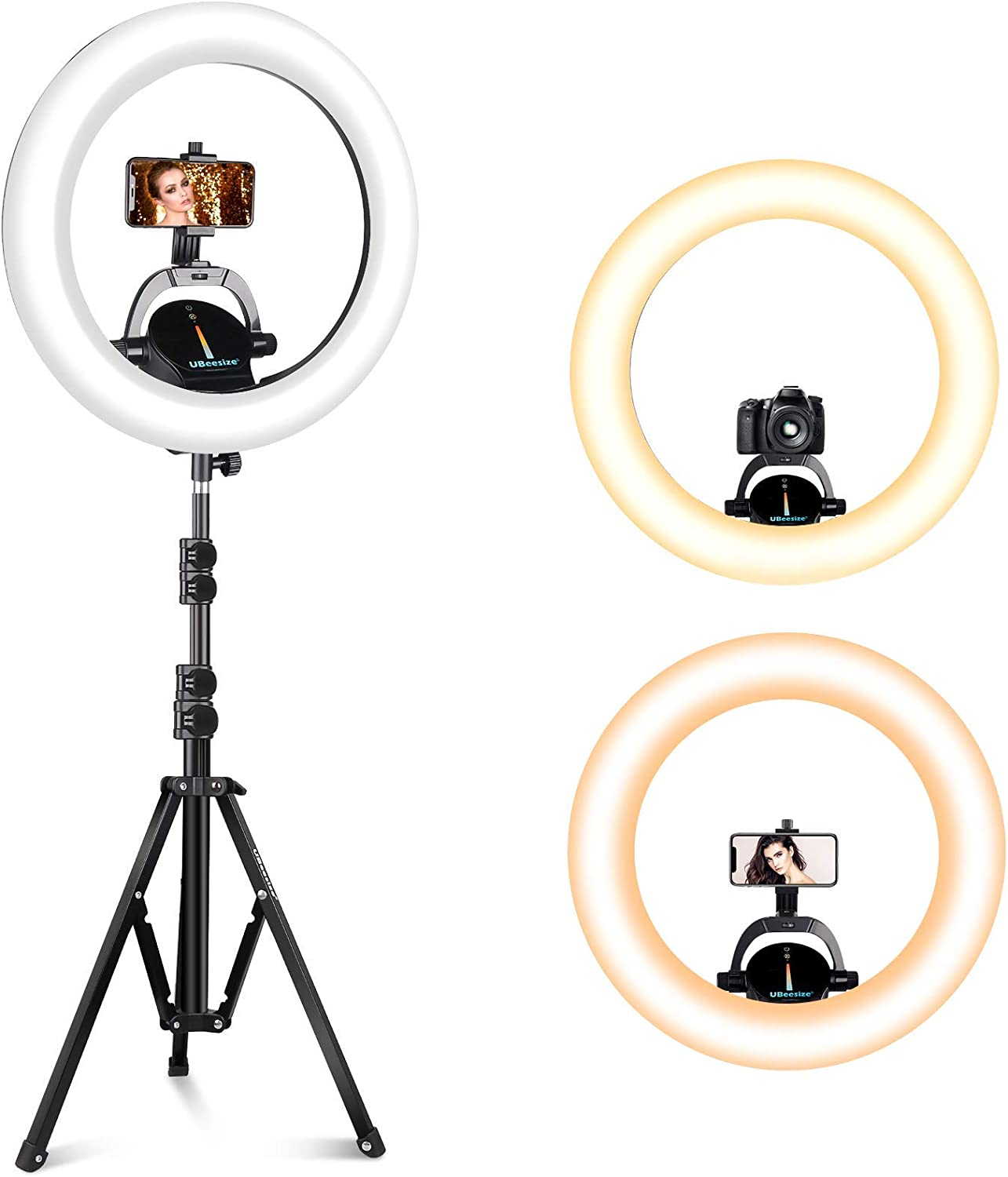 """UBeesize In stock Ring Light Outlet SALE Kit: 16"""" Wireless LED with C"""