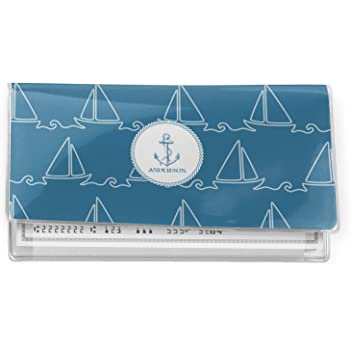 Rope Sail Boats Vinyl Checkbook Cover Personalized