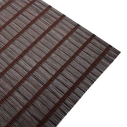 LY88 Vorhang Bambus-Rollos Rollos Bambus-Rollos, Innenjalousien für den Außenbereich, Sonnenschutz-Terrassenfenster, Dunkelbraun