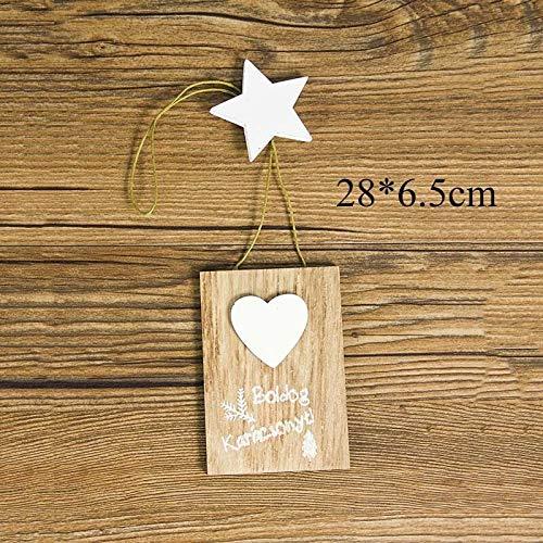 JINSUO Colgantes de madera natural para árbol de Navidad, adornos colgantes de madera, regalos de Navidad, Año Nuevo, decoración del hogar, decoración 62949 (color: 2PD 62949 1)