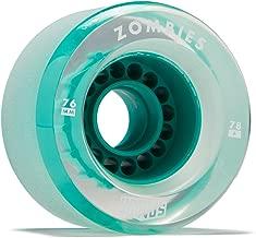 Hawgs Clear Zombie Longboard Wheels - 76mm - 78a - Teal
