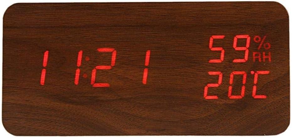 TYMLRX Max 53% OFF Modern Led Alarm Clock Humidity Cheap Electronic Digita Desktop