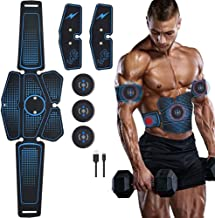 XTFF Abs Stimulatorbelt Abdominal Muscletrainer Electric Stimulator Slimming Fitness EMS Exercise Machine Home Gym Fitness...