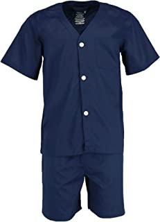Men's Broadcloth Short Sleeve Pajama Set