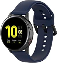 Fit for Samsung Galaxy Watch Active 2 Watch Bands, 20mm Silicone Quick Release Replacement Band Straps Wristbands Fit for ...