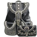 Justin West Trendy Western Rhinestone Leather Conceal...