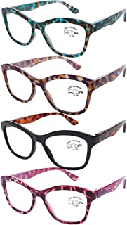 AQWANO Oversized Cat Eye Computer Reading Glasses Blue Light Blocking Fashion Leopard Print Readers for Women Stylish Look, 3.0