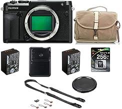 Fujifilm GFX 50R Medium Format Mirrorless Camera (Body Only) - Bundle with 256GB Class 10 SDXC Memory Card, NP-T125 Rechar...
