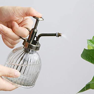 Suwimut 4 Pack Glass Plant Mister, 6.3 Inches Vintage Style Water Spray Bottle, Watering Can Indoor and Outdoor for Garden, P