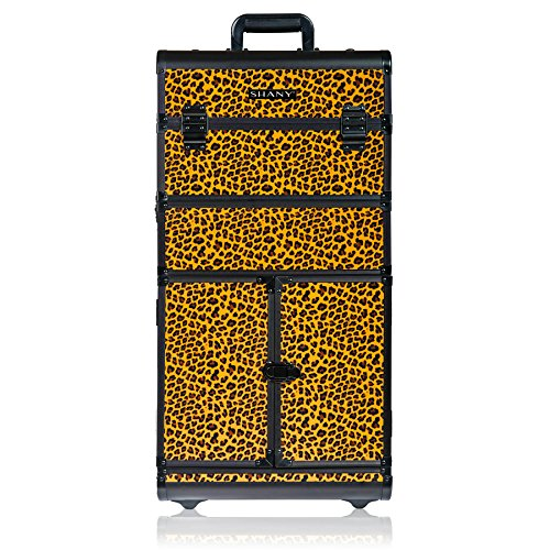 SHANY REBEL Series Pro Makeup Artists Rolling Train Case - Trolley Case - Spring Cheetah