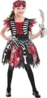 SPUNICOS Girls Deluxe Pirate Costume,Pirate Princess Dress with Headpiece