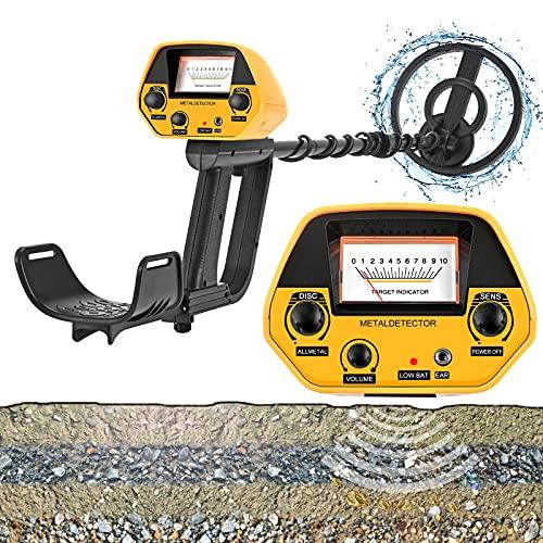Metales Detector Impermeables - GJCrafts, Detectores de Metales Ligeros Ajustables 2 Modo con LCD, Pitido y Conector para Auriculares, para Niños, Adultos, Principiantes, Profesionales