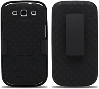 Galaxy Wireless Case Compatible for Samsung Galaxy S3 Case, Swivel Slim Belt Clip Holster Armor Protective Case, Defender Cover for Galaxy S3 Case with Clip - Black