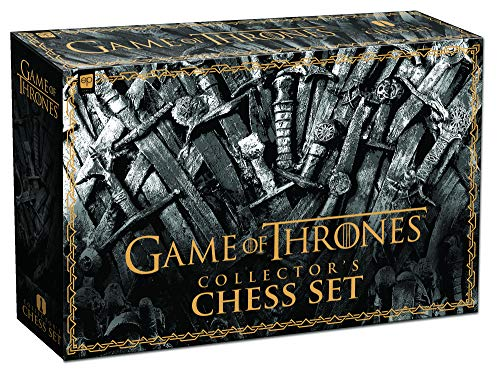 USAOPOLY Game of Thrones Collector's Chess Set | Collectible 32 Custom Sculpt Chess Pieces HBO Game of Thrones TV Characters