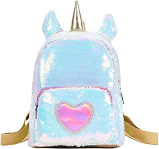 Magic Reversible Sequin Backpack For Kids,Sparkly Lightweight Back Pack for Girls and Boys - Unicorn
