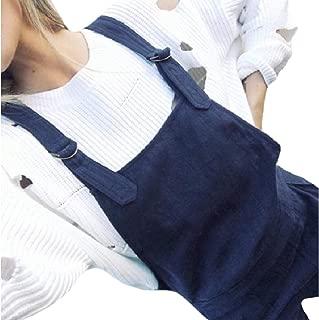 XINHEO Women's Baggy Overalls Summer Pocket Solid Color Jumpsuit Pants