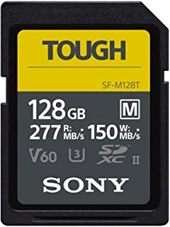 Sony Tough-M Series SDXC UHS-II Card 128GB, V60, CL10, U3, Max R277MB/S, W150MB/S (SF-M128T/T1)
