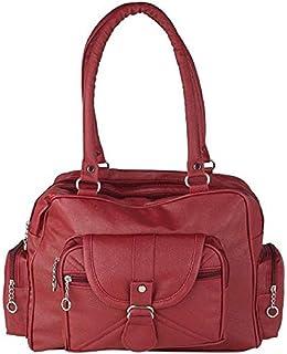 Bellina D pocket Maroon Shoulder handbag for women