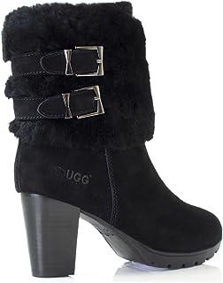 UGG Boots Sheepskin Short Stylish Australian Ladies Women Winter Shoes - Black