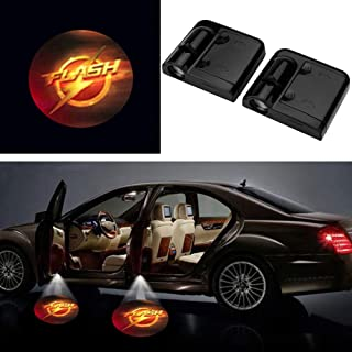 3D Ghost Shadow Emblems Wireless Door Logo Shadow Ghost Lights (2pcs) fit Ford Focus 2 Fiesta F150 Mondeo Transit Mustang etc (The Flash)
