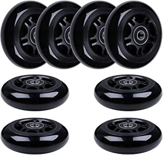 AOWISH 8-Pack 80mm Inline Skate Wheels 85A Inline Skates Replacement Wheel with Bearings ABEC-9