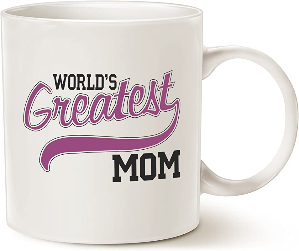 MAUAG Mothers Day Gifts Christmas Gifts Best Mom Coffee Mug World S Greatest MOM Best Birthday Gift For Mom Mama Mother Sister Porcelain Cup White 14 Oz