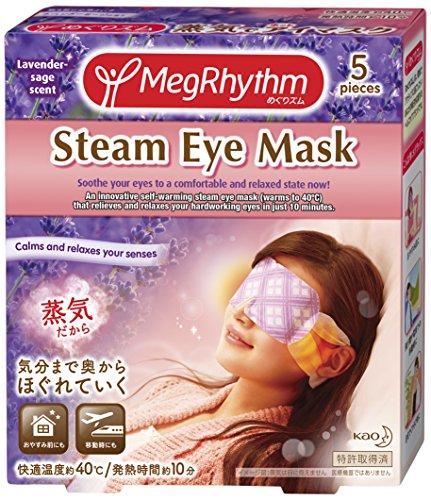 Megurizmu Steam Hot Eye Mask Visiting -Lavender- 5pieces [Badartikel]