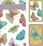 Caspari Entertaining Bridge Playing Card Gift Set, Jumbo Type, Jeweled Butterflies