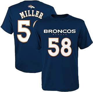 Von Miller Denver Broncos NFL Youth 8-20 Navy Alternate Mainliner Official Player Name & Number T-Shirt