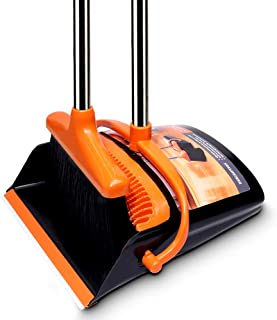 Broom and Dustpan Set/Dust Pan and Broom, Light Weight Broom Combo Set with 52