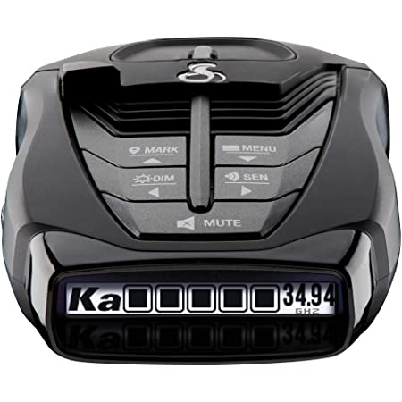 Cobra RAD 480i Laser Radar Detector – Long Range Detection, Bluetooth, iRadar App, LaserEye Front and Rear Detection, Next Gen IVT Filtering, Black