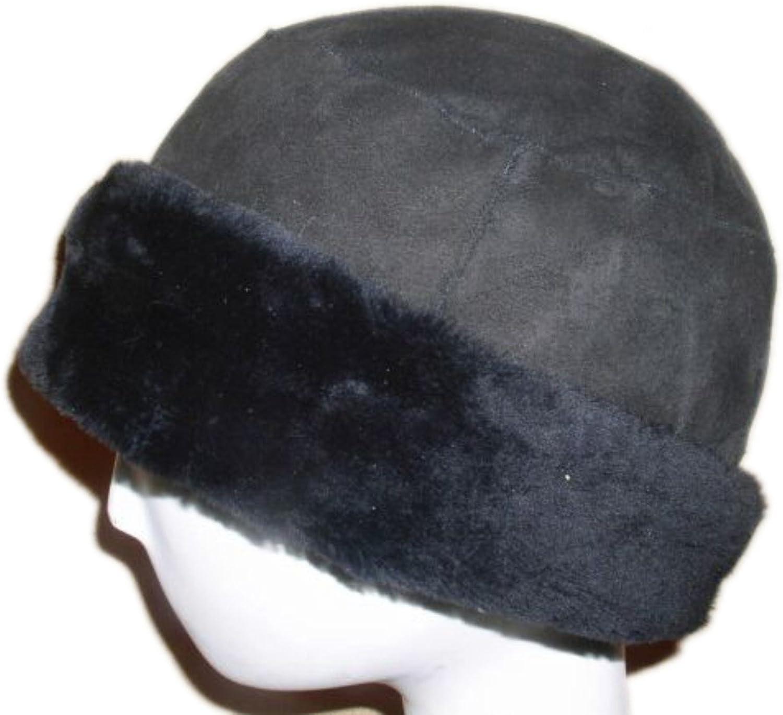 FursNewYork Semi Flat Top Merino Shearling Cuffed HatUnisex