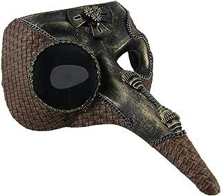 Long Nose Steampunk Zanni Style Half Face Mask