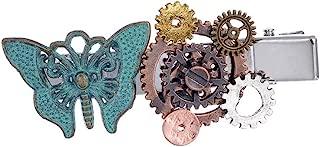 Horquilla Steampunk en Forma de Mariposa