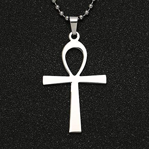 VAWAA Ankh Cruz Collar Llave de la Vida Amuleto Antiguo Egipcio religi