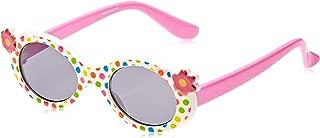 TFL 78004-Bpink Cateye Girl's Sunglasses, White & Baby Pink