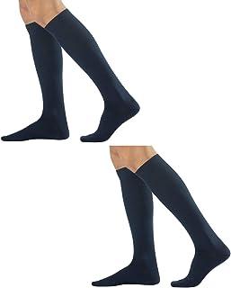 CALZITALY, – PACK 2 PARES Ejecutivos de Hombre | Calcetines de Algodón Cálido | Negro, Azul Marino, Gris, Marrón | 39/42, 43/46 | Made in Italy