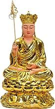 Buddha Statue Decoration Portable Retro Resin Buddha Statue Ksitigarbha Sitting Buddha Sculpture Home Office Desk Decorati...