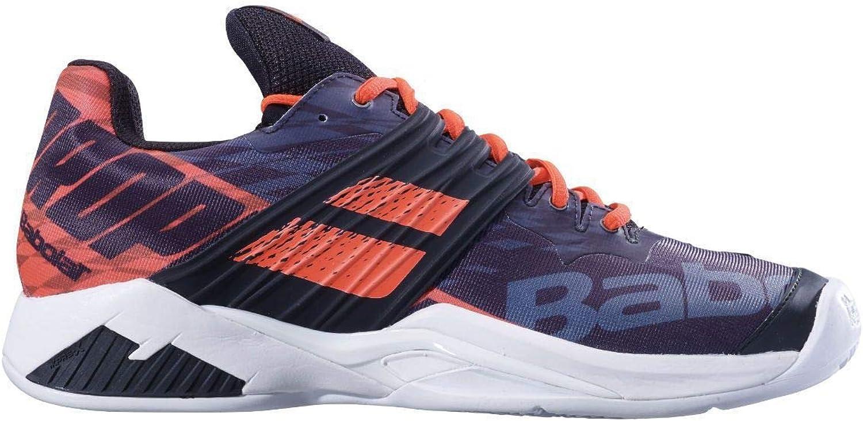 Babolat Herren Propulse Fury Clay Tennisschuhe Tennisschuhe Sandplatzschuh Schwarz - Orange 46  neu eingebrannt