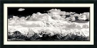 Framed Wall Art Print Mount McKinley Range, Clouds, Denali National Park, Alaska, 1948 by Ansel Adams 39.00 x 19.62