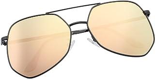 6f560d708dd VIVIENFANG Fashion Designer Huge Hexagon Sunglasses For Women Men Metal  Frame Tinted Lens Oversized Shades 87070