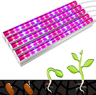 OSALADI 5PCS LED Plant Growing Light with Switch Cable 30 LEDs Plant Light T5 Bar Grow Tube Light for Flower Greenhouse Ve...