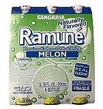 Sangaria Ramune Premium Carbonated Soft Drink 6.76 fl oz per Bottle (Melon, 6 Bottle)