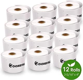 12 Rolls 30256 Labels 2-5/16